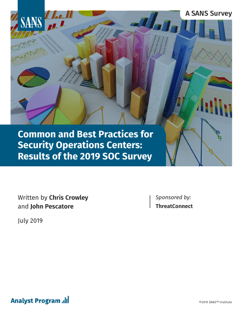 image from Common and Best Practices for Security Operations Centers: Results of the 2019 SOC Survey