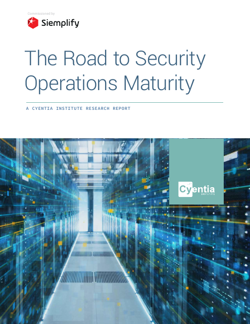 image from Road to Security Operations Maturity