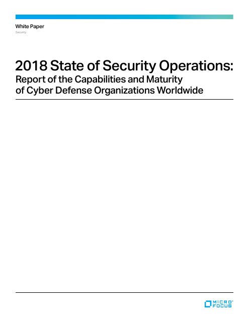image from 2018 State of Security Operations: Report of the Capabilities and Maturity of Cyber Defense Organizations Worldwide