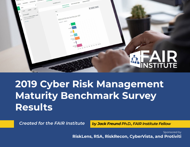 image from 2019 Cyber Risk Management Maturity Benchmark Survey Results
