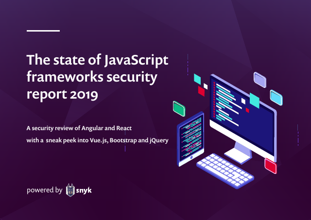 image from The state of JavaScript frameworks security report 2019