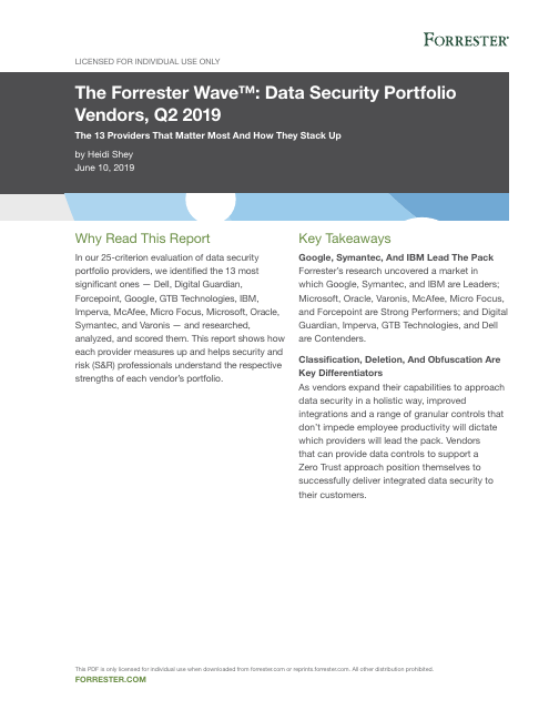 image from Data Security Portfolio Vendors, Q2 2019
