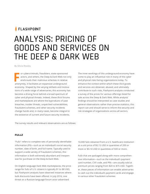 image from Analysis: Pricing of Goods and Services on the Deep & Dark Web