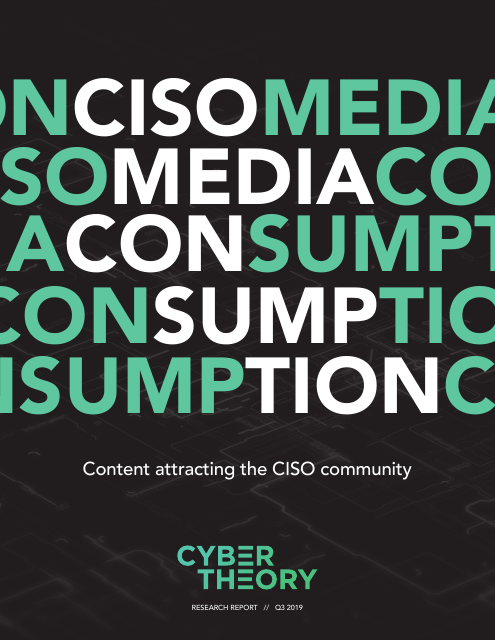 image from CISO Media Consumption