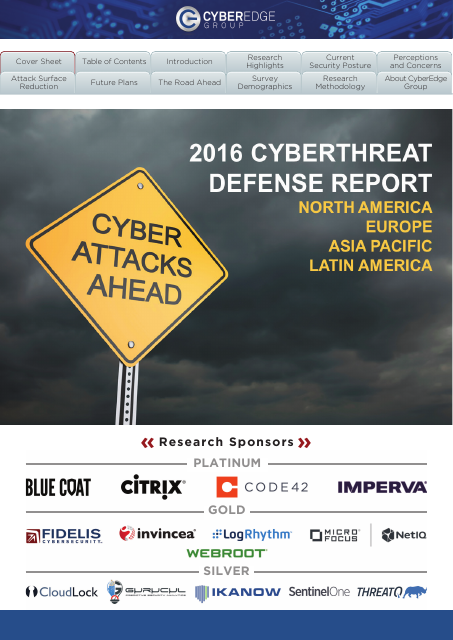image from 2016 Cyberthreat Defense Report