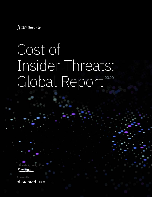 image from 2020 Cost of Insider Threats: Global Report