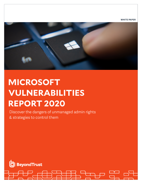 image from Microsoft Vulnerabilities Report 2020