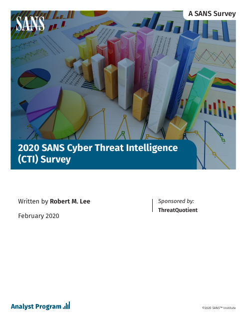 image from 2020 SANS Cyber Threat Intelligence (CTI) Survey
