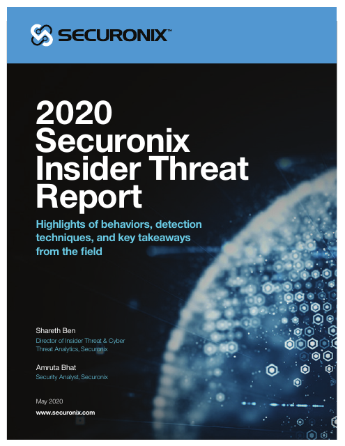 image from 2020 Securonix Insider Threat Report