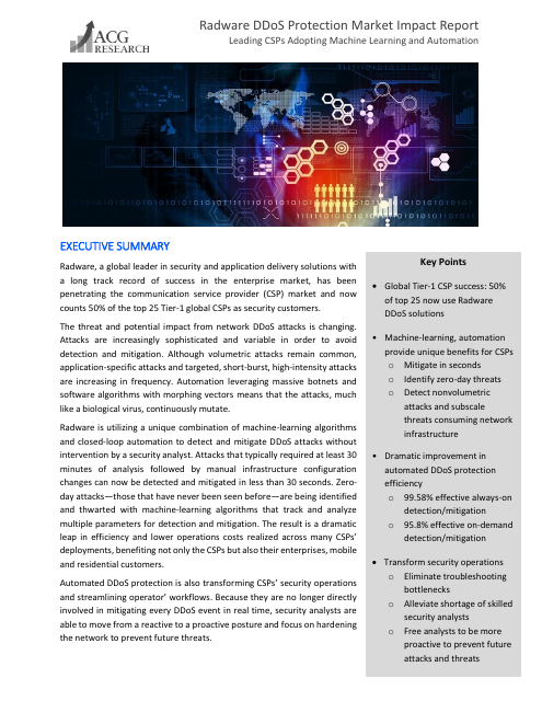 image from Radware DDoS Protection Market Impact Report