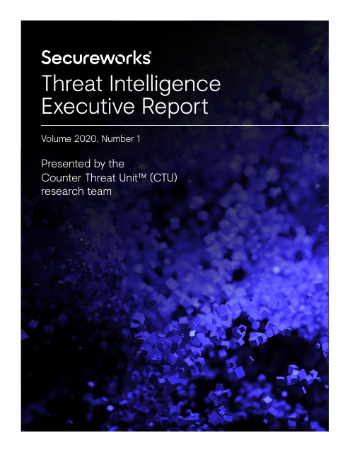 image from Threat Intelligence Executive Report 2020 Vol. 1