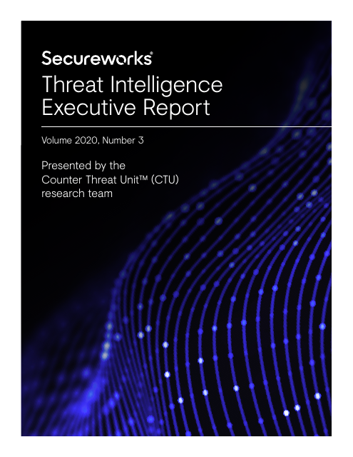 image from Threat Intelligence Executive Report 2020 Vol. 3