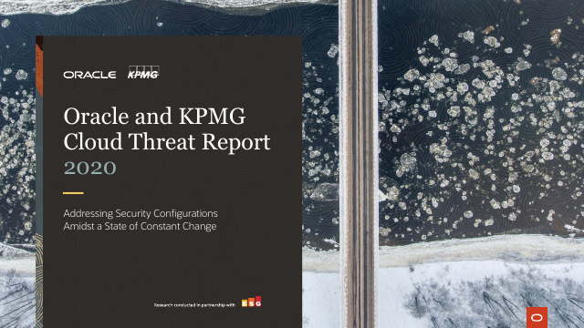 image from Oracle and and KPMG Cloud Threat Report 2020