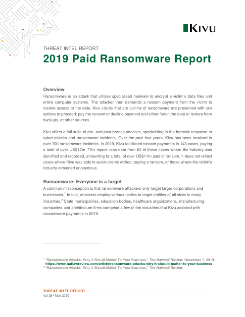 image from 2019 Paid Ransomware Report