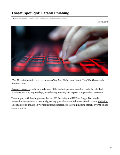 image from Threat Spotlight: Lateral Phishing