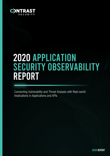 image from 2020 Application Security Observability Report