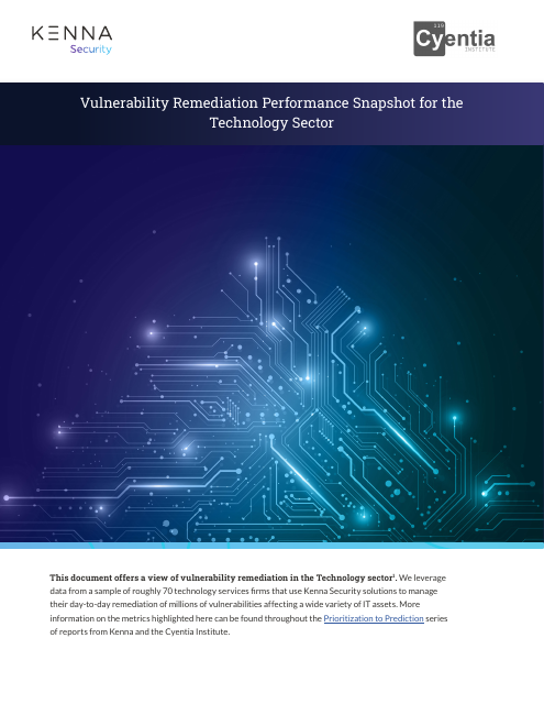 image from Vulnerability Remediation Performance Snapshot for the Technology Sector