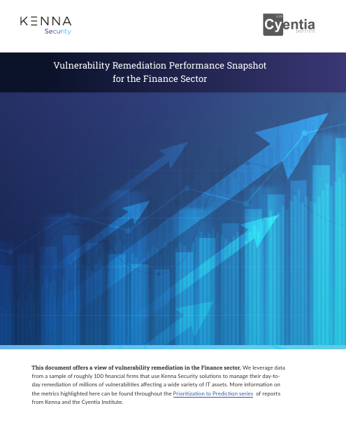 image from Vulnerability Remediation Performance Snapshot for the Finance Sector