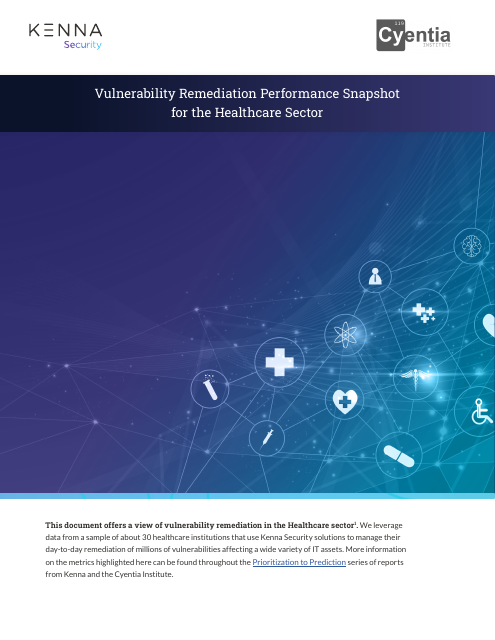 image from Vulnerability Remediation Performance Snapshot for the Healthcare Sector