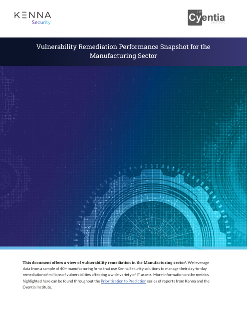 image from Vulnerability Remediation Performance Snapshot for the Manufacturing Sector