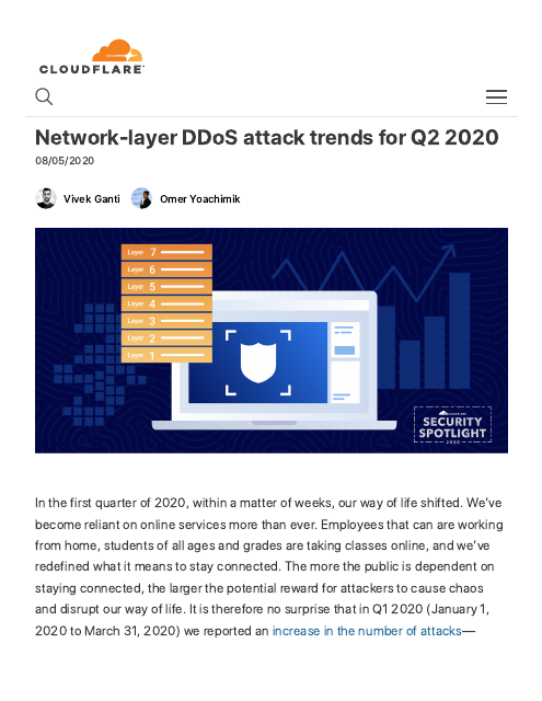 image from Network-layer DDoS attack trends for Q2 2020