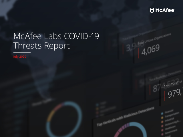 image from McAfee Labs COVID-19 Threats Report July 2020