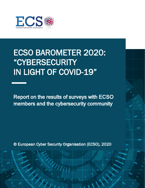 "image from ECSO Barometer 2020: ""Cybersecurity In Light of COVID-19"""