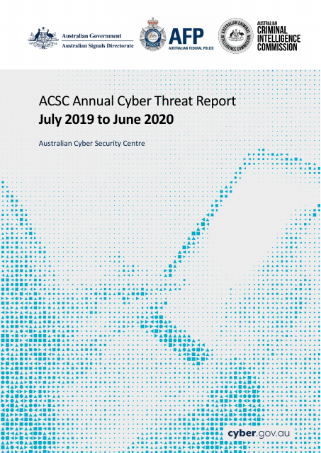 image from ACSC Annual Cyber Threat Report: July 2019 to June 2020
