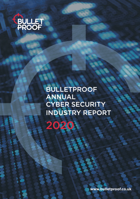 image from Bulletproof Annual Cyber Security Industry Report 2020