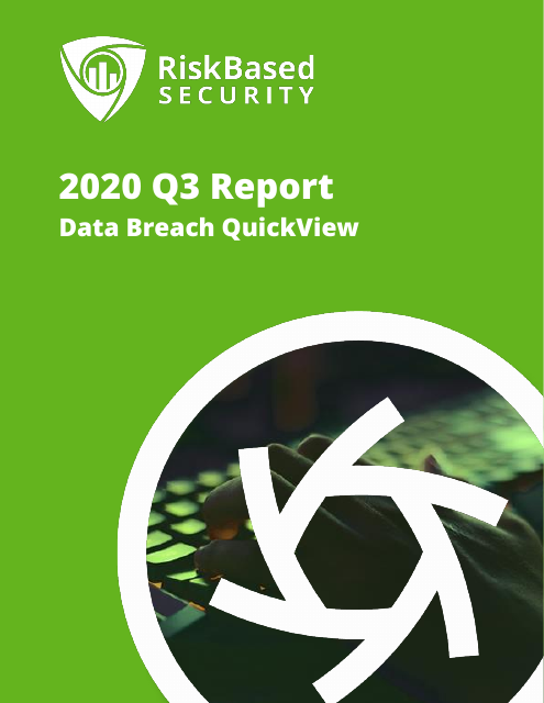 image from 2020 Q3 Report: Data Breach QuickView