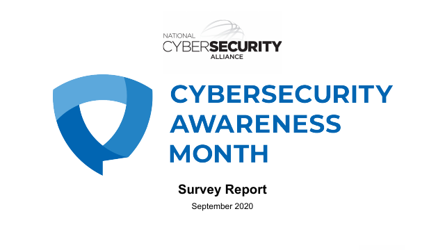 image from Cybersecurity Awareness Month Survey Report September 2020