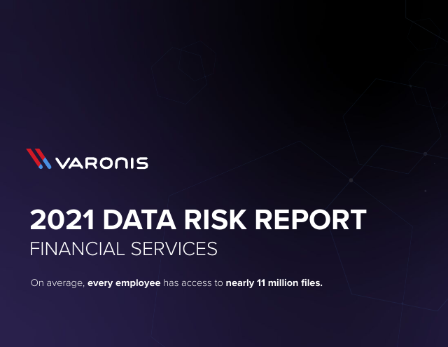 image from 2021 Data Risk Report: Financial Services