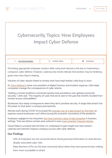 image from Cybersecurity Topics: How Employees Impact Cyber Defense