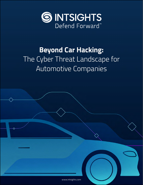 image from Beyond Car Hacking: The Cyber Threat Landscape for Automotive Companies
