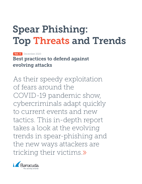 image from Spear Phishing: Top Threats and Trends