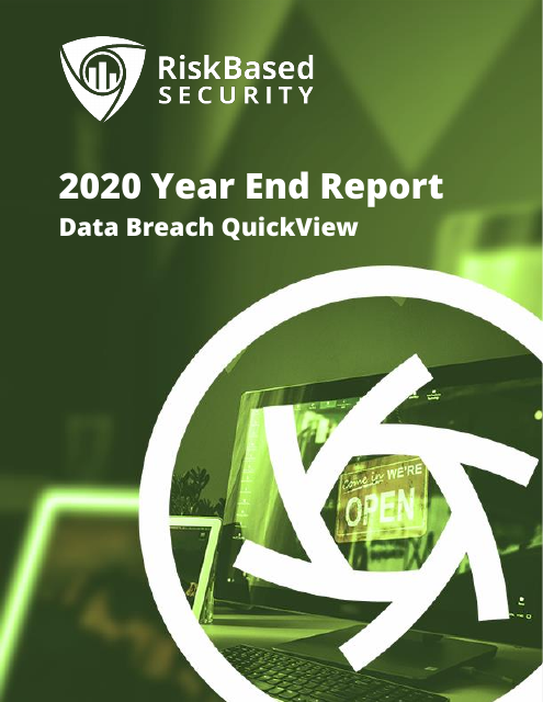 image from 2020 Year End Report: Data Breach QuickView
