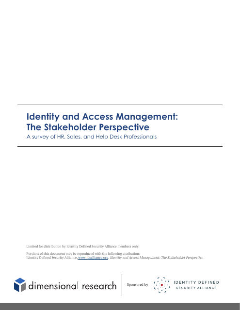 image from Identity and Access Management: The Stakeholder Perspective