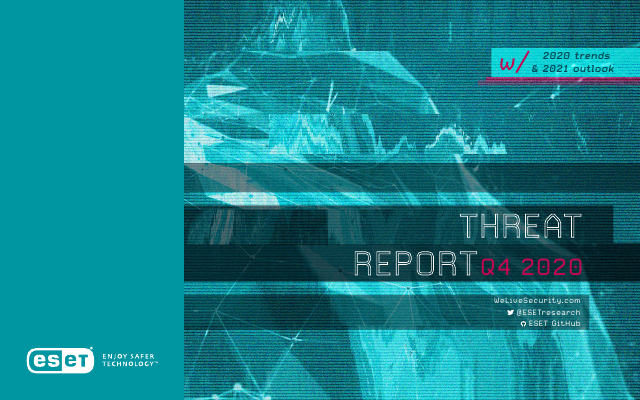 image from ESET Threat Report Q4 2020