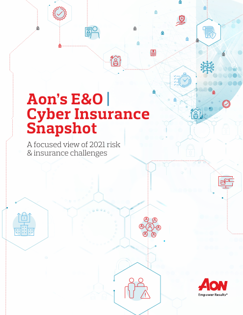 image from Aon's E&O | Cyber Insurance Snapshot
