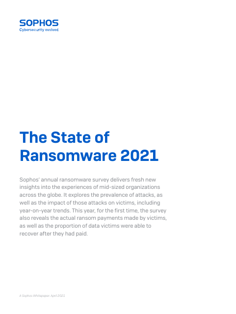 image from State of Ransomware 2021